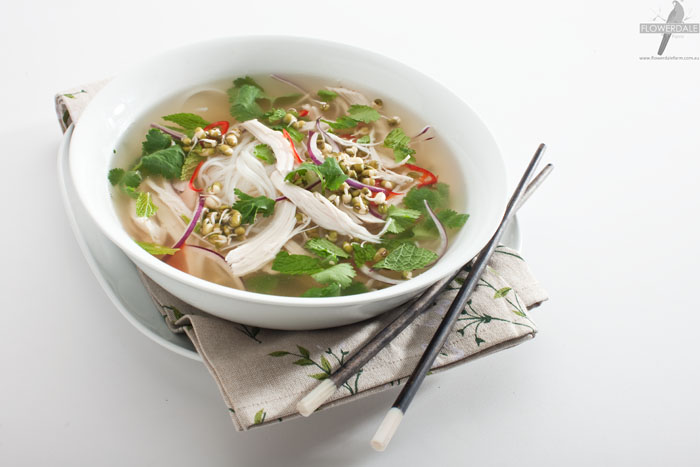 Asian-style Mung Sprout and Chicken Broth