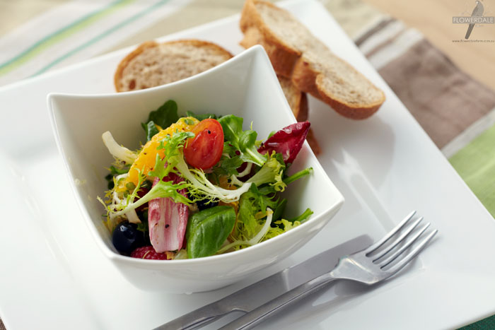 Frisee and Red Witlof Salad with Citrus Dressing